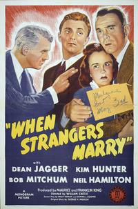 When Strangers Marry - 27 x 40 Movie Poster - Style A