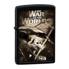 When Worlds Collide / War of the Worlds Combo - The Death Rays Black Matte Zippo Lighter