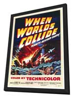 When Worlds Collide - 27 x 40 Movie Poster - Style A - in Deluxe Wood Frame