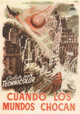 When Worlds Collide - 11 x 17 Movie Poster - Spanish Style A