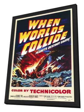 When Worlds Collide - 11 x 17 Movie Poster - Style A - in Deluxe Wood Frame