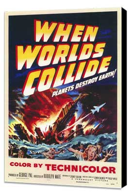 When Worlds Collide - 11 x 17 Movie Poster - Style A - Museum Wrapped Canvas