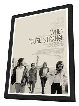 When You're Strange - 11 x 17 Movie Poster - Style B - in Deluxe Wood Frame
