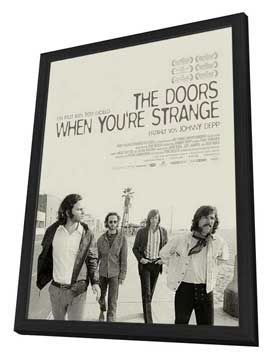 When You're Strange - 27 x 40 Movie Poster - German Style A - in Deluxe Wood Frame