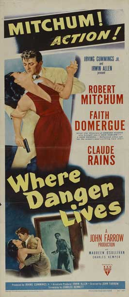 Where Danger Lives - 14 x 36 Movie Poster - Insert Style A