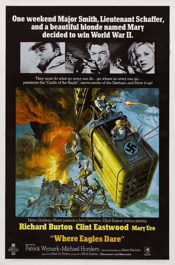 Where Eagles Dare - 43 x 62 Movie Poster - Bus Shelter Style A