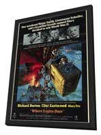 Where Eagles Dare - 11 x 17 Movie Poster - Style A - in Deluxe Wood Frame