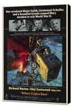 Where Eagles Dare - 11 x 17 Movie Poster - Style A - Museum Wrapped Canvas