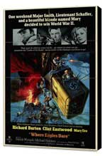 Where Eagles Dare - 27 x 40 Movie Poster - Style A - Museum Wrapped Canvas