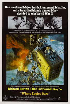 Where Eagles Dare - 27 x 40 Movie Poster - Style A