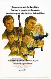 Where Eagles Dare - 43 x 62 Movie Poster - Bus Shelter Style B