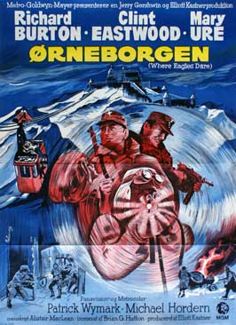 Where Eagles Dare - 11 x 17 Movie Poster - Danish Style A