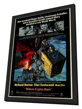 Where Eagles Dare - 27 x 40 Movie Poster - Style A - in Deluxe Wood Frame