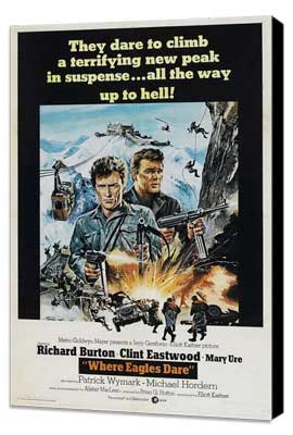 Where Eagles Dare - 27 x 40 Movie Poster - Style D - Museum Wrapped Canvas