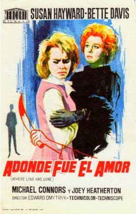 Where Love Has Gone - 11 x 17 Movie Poster - Spanish Style A