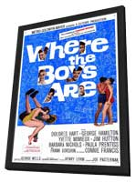 Where the Boys Are - 11 x 17 Movie Poster - Style A - in Deluxe Wood Frame