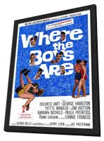 Where the Boys Are - 27 x 40 Movie Poster - Style A - in Deluxe Wood Frame