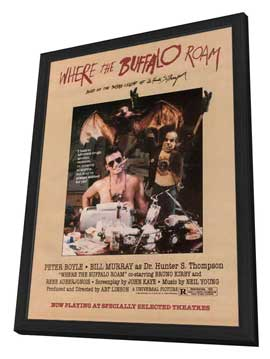 Where the Buffalo Roam - 27 x 40 Movie Poster - Style C - in Deluxe Wood Frame