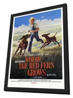 Where the Red Fern Grows - 27 x 40 Movie Poster - Style B - in Deluxe Wood Frame
