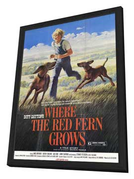 Where the Red Fern Grows - 11 x 17 Movie Poster - Style B - in Deluxe Wood Frame