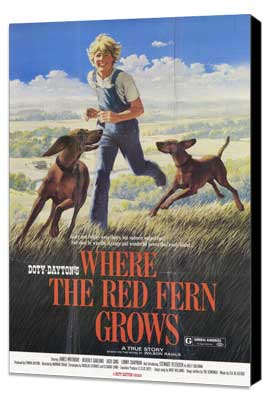 Where the Red Fern Grows - 11 x 17 Movie Poster - Style B - Museum Wrapped Canvas