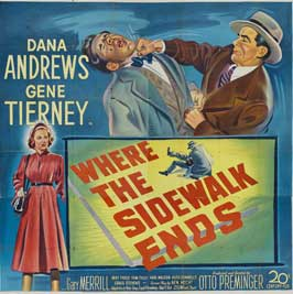 Where the Sidewalk Ends - 30 x 30 Movie Poster - Style A
