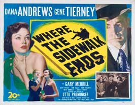 Where the Sidewalk Ends - 22 x 28 Movie Poster - Half Sheet Style A