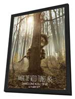 Where the Wild Things Are - 11 x 17 Movie Poster - Style B - in Deluxe Wood Frame