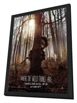 Where the Wild Things Are - 27 x 40 Movie Poster - Style A - in Deluxe Wood Frame