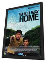 Which Way Home - 11 x 17 Movie Poster - Style A - in Deluxe Wood Frame
