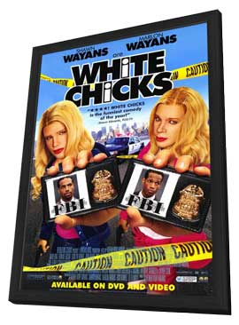White Chicks - 11 x 17 Movie Poster - Style B - in Deluxe Wood Frame