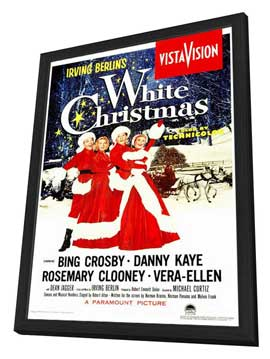 White Christmas - 27 x 40 Movie Poster - Style A - in Deluxe Wood Frame