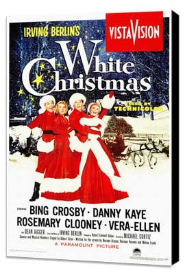 White Christmas - 11 x 17 Movie Poster - Style A - Museum Wrapped Canvas