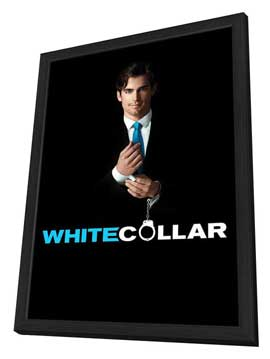 White Collar (TV) - 11 x 17 TV Poster - Style B - in Deluxe Wood Frame