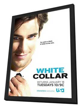 White Collar (TV) - 11 x 17 TV Poster - Style C - in Deluxe Wood Frame