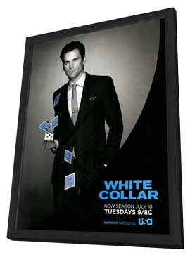 White Collar (TV) - 11 x 17 TV Poster - Style D - in Deluxe Wood Frame