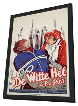 White Hell of Pitz Palu - 11 x 17 Movie Poster - German Style A - in Deluxe Wood Frame