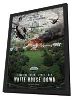 White House Down - 27 x 40 Movie Poster - Style A - in Deluxe Wood Frame