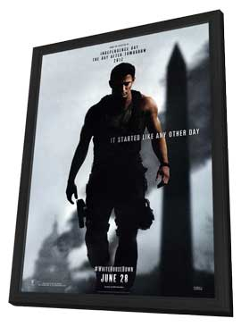 White House Down - 11 x 17 Movie Poster - Style A - in Deluxe Wood Frame