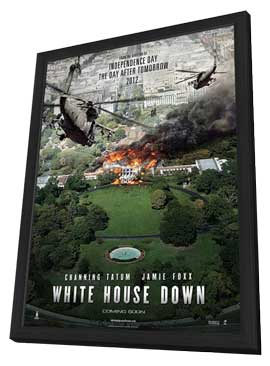 White House Down - 11 x 17 Movie Poster - Style B - in Deluxe Wood Frame