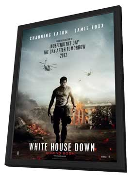 White House Down - 27 x 40 Movie Poster - Style C - in Deluxe Wood Frame