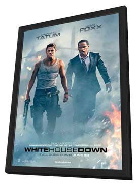 White House Down - 11 x 17 Movie Poster - Style D - in Deluxe Wood Frame