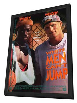 White Men Can't Jump - 27 x 40 Movie Poster - Style A - in Deluxe Wood Frame