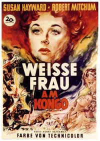 White Witch Doctor - 11 x 17 Movie Poster - German Style A