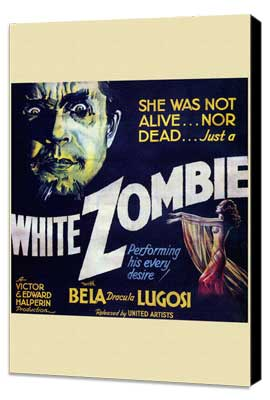 White Zombie - 30 x 30 Movie Poster - Style A - Museum Wrapped Canvas