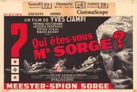 Who Are You, Mr. Sorge? - 11 x 17 Movie Poster - Belgian Style A