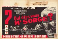 Who Are You, Mr. Sorge? - 27 x 40 Movie Poster - Belgian Style A