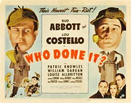 Who Done It? - 11 x 14 Movie Poster - Style A