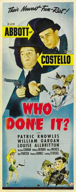 Who Done It? - 14 x 36 Movie Poster - Insert Style A