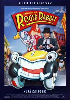 Who Framed Roger Rabbit - 27 x 40 Movie Poster - Danish Style A